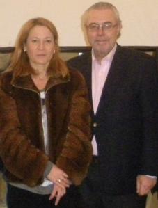 MS y la Alcaldesa de Cáceres, Elena Nevado