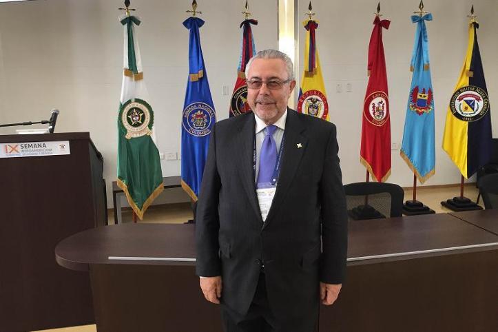 Manuel Sánchez Gómez-Merelo ponente en la IX Semana Iberoamericana sobre Paz, Seguridad y Defensa. Campus Universidad Militar Nueva Granada. Colombia