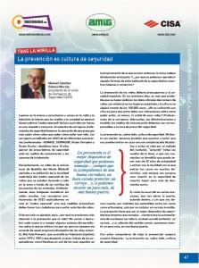 La prevención es cultura de seguridad, por Manuel Sánchez Gómez-Merelo