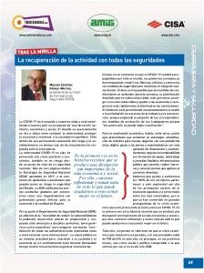 La recuperación de la actividad con todas las seguridades, por Manuel Sánchez Gómez-Merelo