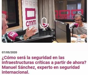 Manuel Sánchez Gómez-Merelo analiza ¿cómo será la seguridad en las infraestructuras críticas a partir de ahora? en Radio Castilla La Mancha