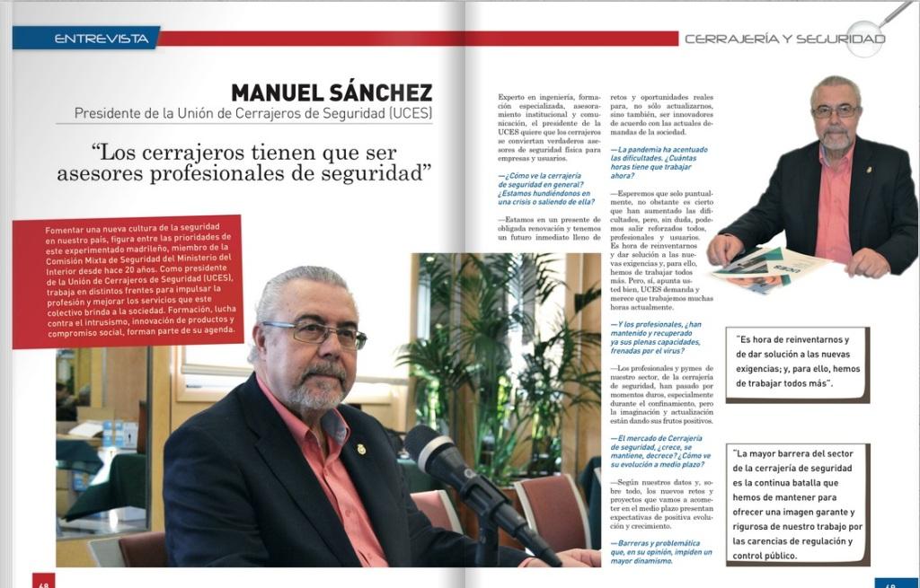 Entrevista a Manuel Sánchez Gómez-Merelo publicada en IberFerr nº 244
